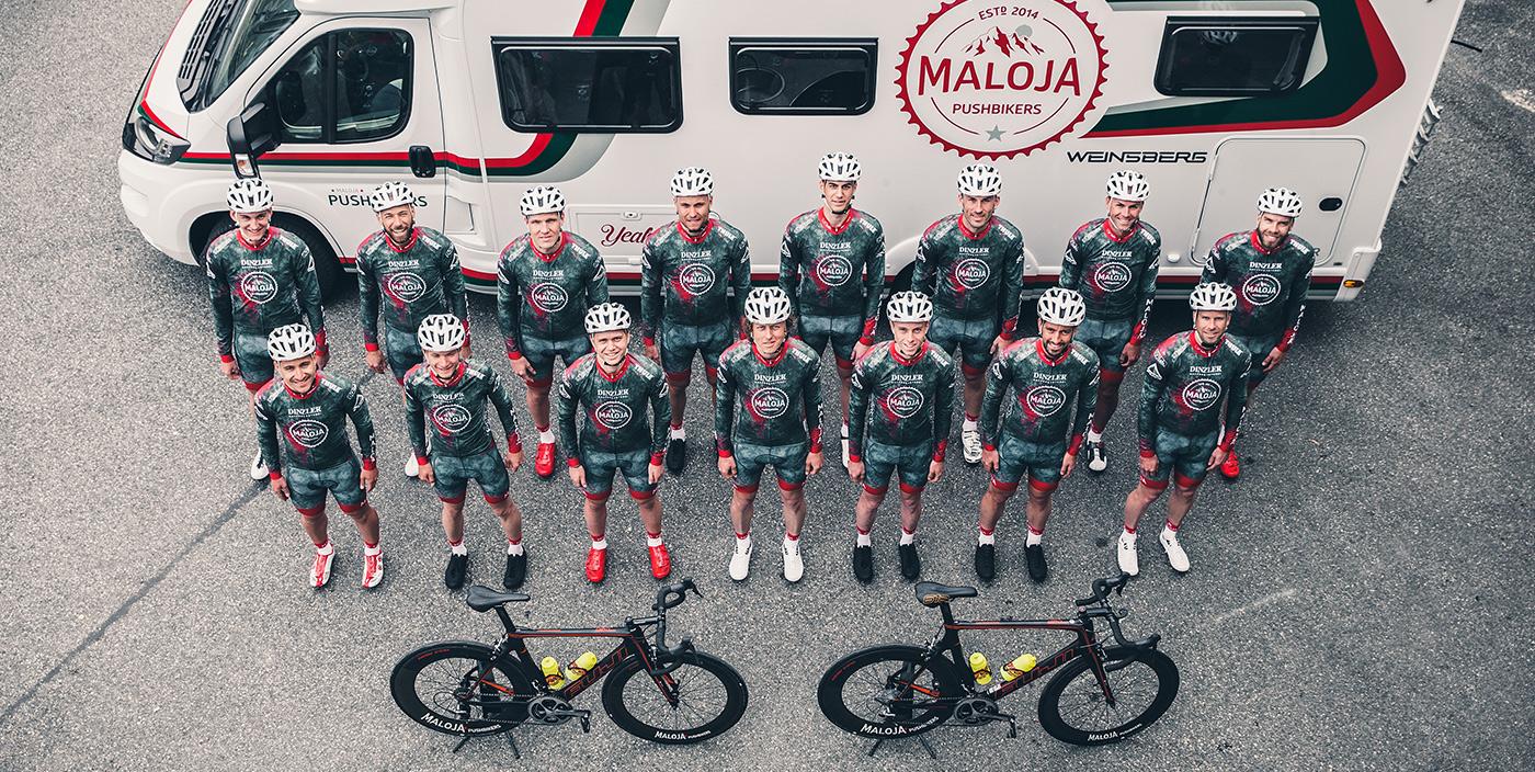 WEINSBERG unterstützt die Maloja Pushbikers