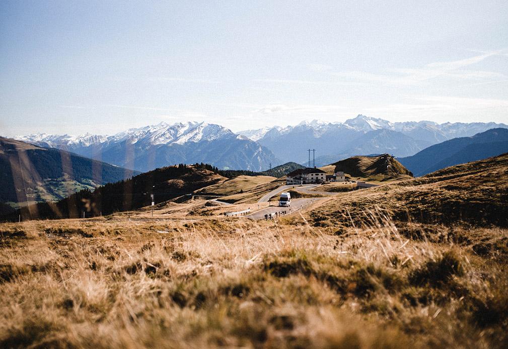 Der Jaufenpass mit knapp über 2.000 Meter.