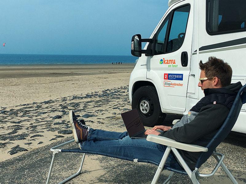 Gastbeitrag: Arbeiten am Meer mit dem WEINSBERG Reisemobil